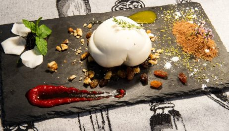 A delicious dish with boiled egg which a visitor can taste at the Olive Tree Restaurant.