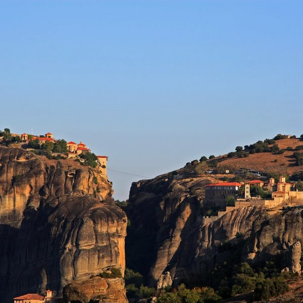 Monastery built on the top of a hill in Meteora, which is not far away from Parga.